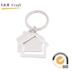 승진 선물 공백 집 모양 금속 Keychain 집 열쇠 고리