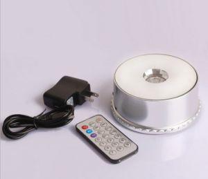 Base chiara del LED con di Music Box di telecomando del USB con il MP3 che gira intorno alla base chiara