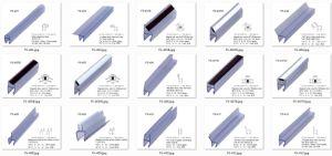 90 grau único lado a presilha do painel de vidro chuveiro (FS-533)