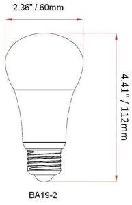 Globo de iluminação LED Lâmpada, UM60 9W branca suave (2700K) , Globo Energy Star Lâmpada Globo de Luz