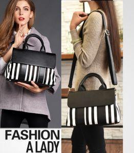 Senhoras Mala sacos de mão de bolsas de réplica de alta qualidade a Preto e Branco Quente Ombro Vender Lady bag bolsa mulheres simples mulheres Bag Lady mala (WDL0115)