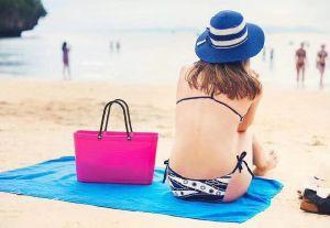 PVC Beachkins moda señoras Jelly Dama Bolsa Bolsa de jalea de caucho de silicona Jelly bolsos