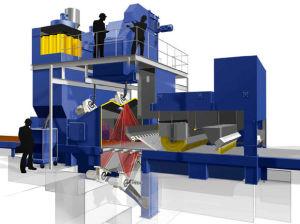 Macchina di superficie d'acciaio di granigliatura di pulizia di alta efficienza di serie Q69