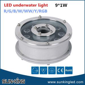 Indicatore luminoso subacqueo impermeabile rotondo della fontana della piscina LED di 6W 9W 12W 18W DC24V RGB DMX