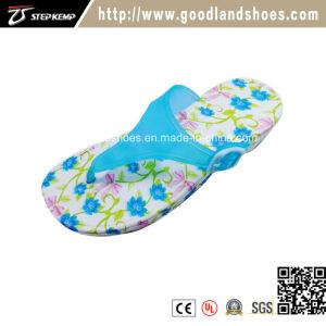 Nouvelle semelle EVA et les sangles de PVC, les femmes fleur pantoufles occasionnels ex-5103