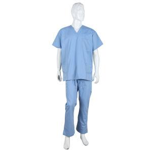 Doctor enfermera Hombre de Lay's Scrubs vestir uniforme de trabajo