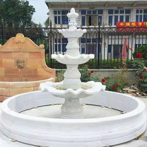Steen 3 van de Aard van de tuin Decoratieve Witte Marmeren Tiered Fontein