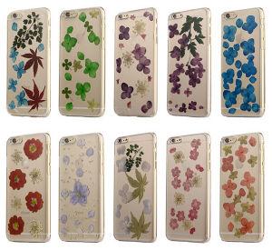 La impresión de la flor ultra delgado claro caso de TPU para iPhone 6