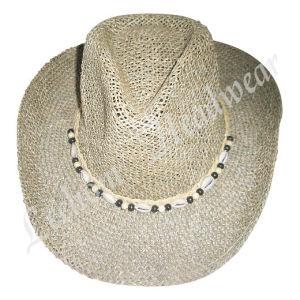 FahisonのカウボーイのSeagrassのわらのバケツの帽子