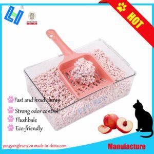 Hot vendre des produits pour animaux de compagnie : La nature Peach Scent Tofu la litière pour chat