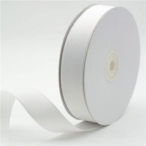 100% poliéster de color blanco de cinta de Grosgrain
