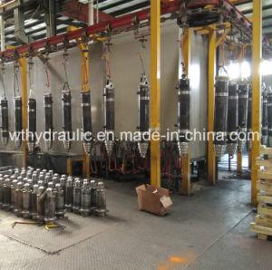 Volcar Camión Volquete pesados cilindros hidráulicos en la Trainer fabricante