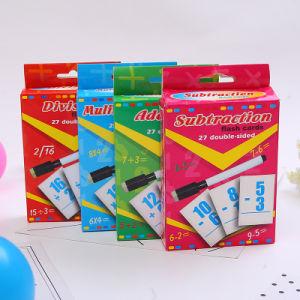 傾向の数学操作のフラッシュカードパック、4のセット