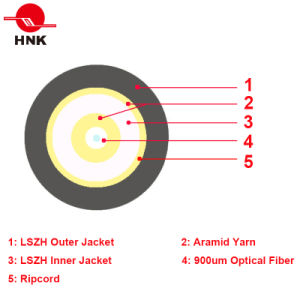4.6mm Outdoor Double Sheathed Simplex Fiber Optic Patch Cord