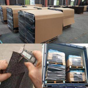 Los materiales de construcción de acero galvanizado de aluminio recubierto de piedra de la hoja de teja