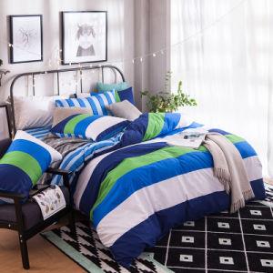Estilo moderno, roupa de cama de algodão impressa com edredões e almofadas