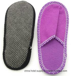 Pantoufle feutre violet fermé Toe pour l'hôtel