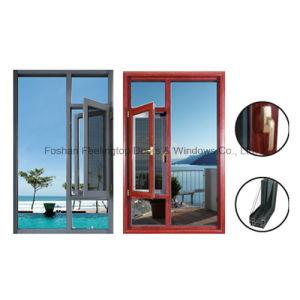 Salto térmico de la ventana de aluminio/aluminio Casement o toldo abierto (FT-135)