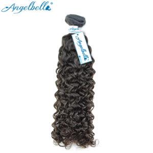 Le Tissage de cheveux humains naturelles Angelbella Jerry Curly Bouncy Tissage de cheveux humains indiens Extensions pure