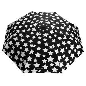 Windproof Parapluie en fibre de verre, change de couleur avec la conception de l'eau, étoile noire