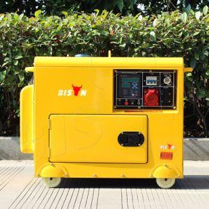 Generatore pesante diesel 380V di tempo del bisonte (Cina) BS6500dse 5kw 5kVA 5000W di dovere portatile silenzioso caldo di lunga durata raffreddato ad aria di vendita
