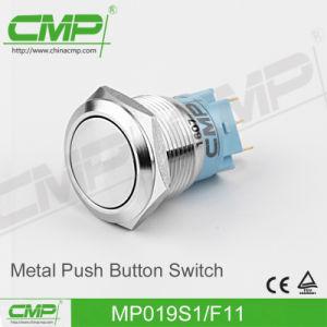 Interrupteur à bouton-poussoir imperméable à l'air plat CMP19mm (TUV, CE)