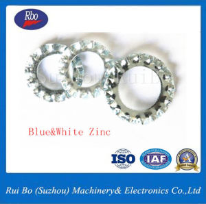 DIN ISO6798une rondelle en acier de blocage dentelée externe