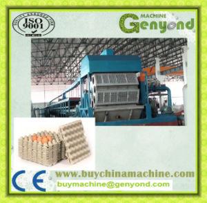 Papierei-Tellersegment, das Maschine herstellt
