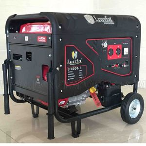 Горячие продажи! Электрический пуск 15HP 6.5kv 6.5kVA 6.5kw частично закрыт Silent бензиновый генератор