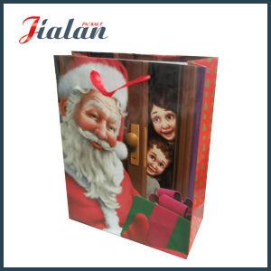 즐거운 성탄 일 축제 디자인 주문 로고에 의하여 인쇄되는 종이 봉지