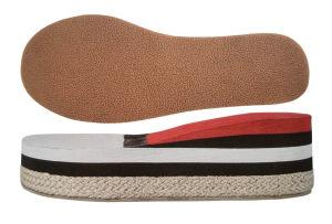 Flat élevé Heel Cork+EVA Sole pour Lady Shoes (B-1376)