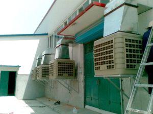 Большой размер промышленной воды с пластиковым корпусом охладителя нагнетаемого воздуха