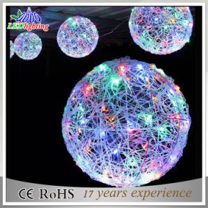 Luces de la Navidad del adorno LED de la bola 3D de la decoración de la calle del día de fiesta