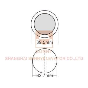 Spindel-Druckknopf für Stärke des Passagier-Höhenruder-17mm (SN-PB513)