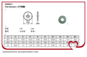 En acier inoxydable 304 316 de la rondelle plate/DIN9021 /UNC/Bsw/ASTM