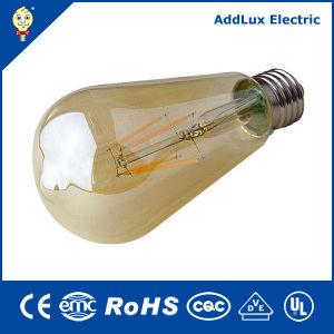 3W-8W E27 LED âmbar lâmpada de incandescência com tampa de vidro