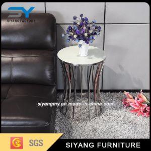 Venta caliente sofá esquina superior de cristal mesa lateral