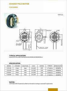 240V China Polo sombreado Mini Motor de la bomba de agua/Deshumidificadores/Air-Freshener