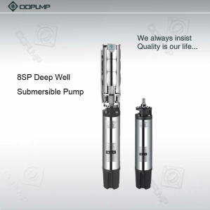 8  en acier inoxydable de la pompe à eau de puits profond pour l'eau propre