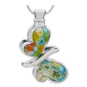 Tegenhanger van de Crematie van het Glas van de Herinnering van de Crematie van de Urn van de vlinder de Herdenkings