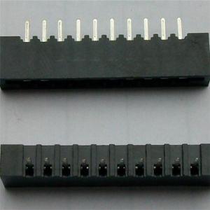 180 Grad 2.54mm 10 weiblicher FPC Verbinder der Stift