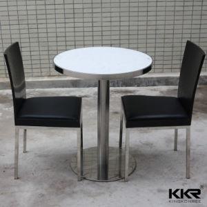 Piedra de resina Kingkonree superficie sólida sobre la mesa con silla 181112