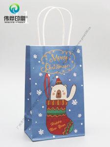 Custom petit cadeau de Noël de l'emballage imprimé sac de papier