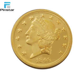 금 도금 주문품 3D 2 유로 동전 복사