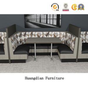 personalizado moderno mobiliário Restaurante Booth Assentos e conjunto de mesa (HD1663)