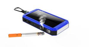 2018 La capacidad real 15600mAh brújula LCD cargador portátil batería externa de Energía Solar Banco con el encendedor de cigarrillos