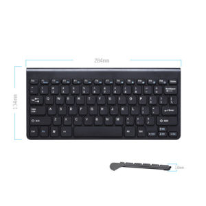 Zwarte Uiterst dunne Stille Kleine Grootte 78 USB van Sleutels MiniToetsenbord Van verschillende media voor Laptop PC (kb-168L)
