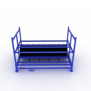 Entrepôt de matériel d'empilage pliable en acier avec Nestainer
