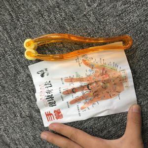 Rodillo de plástico dedo Masajeador de mano