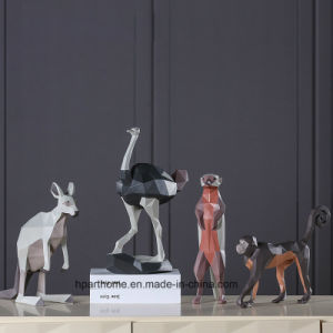 De mooie 3D Decoratie van de Hars van het Standbeeld van Polyresin van de Kangoeroe van Australië